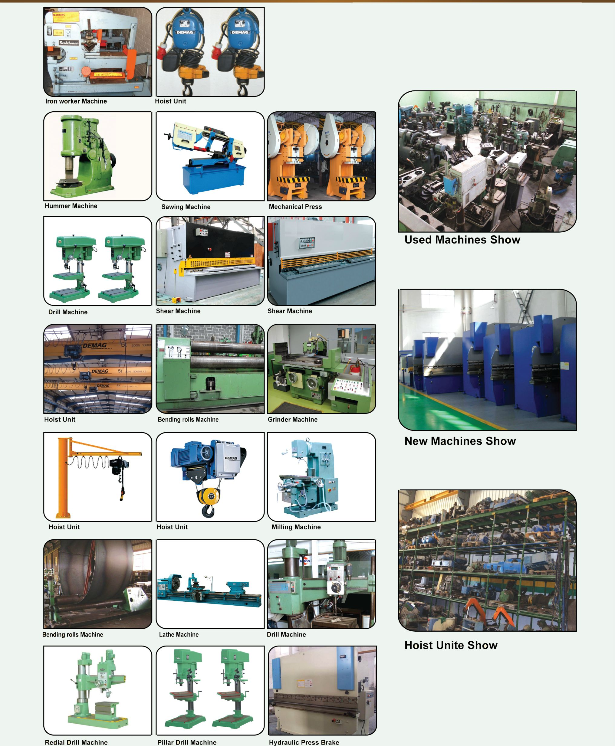 Trading of used metal working machines